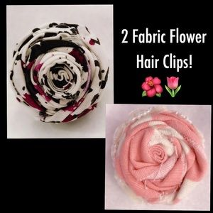 Other - 2 Fabric Hair Clips